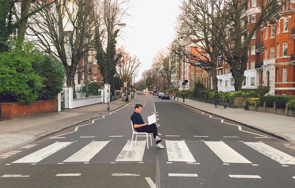 John Butcher at Abbey Road