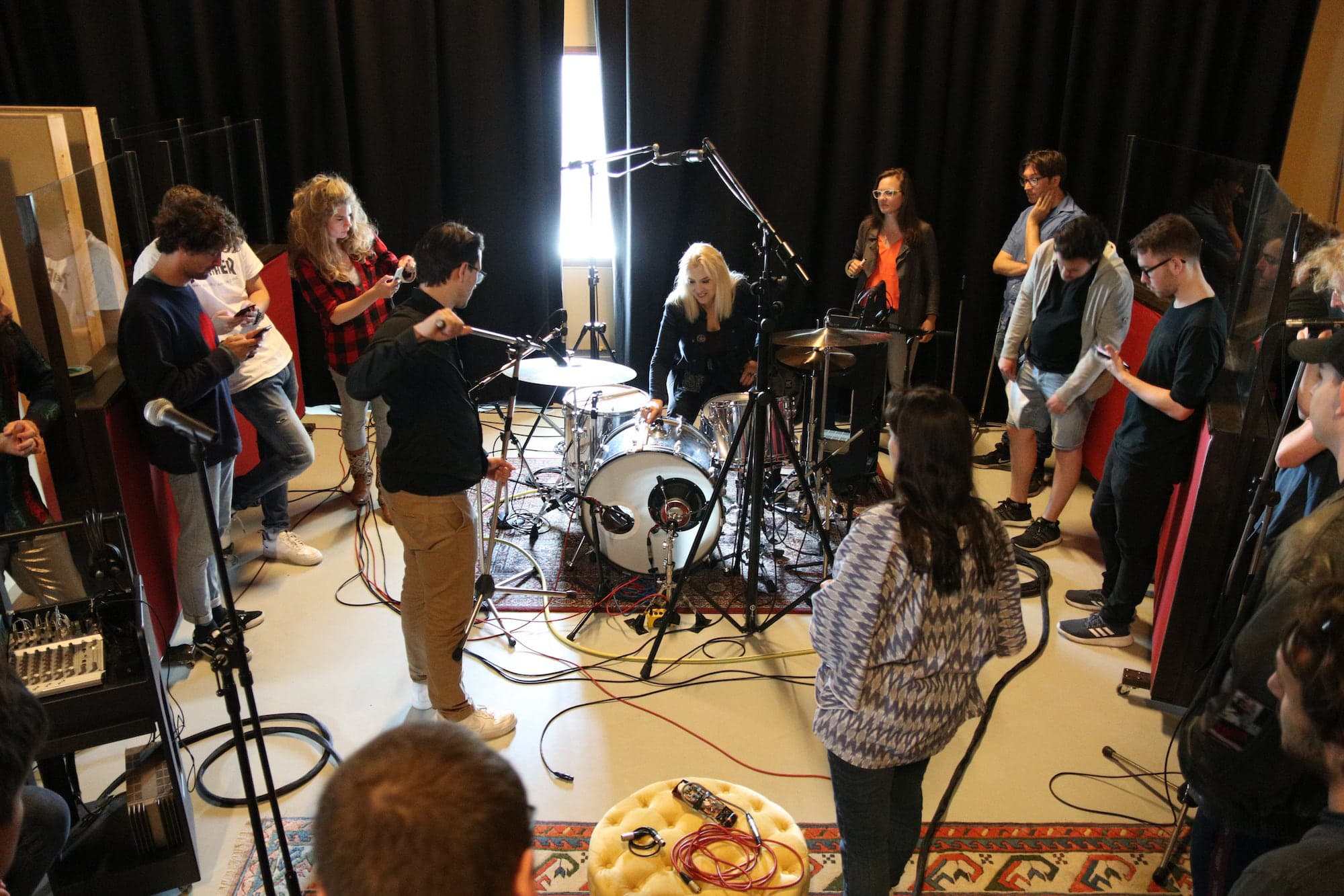 Drum recording with Sylvia Massy