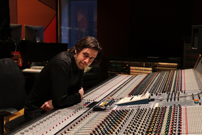 Roel Verberk behind the Neve console