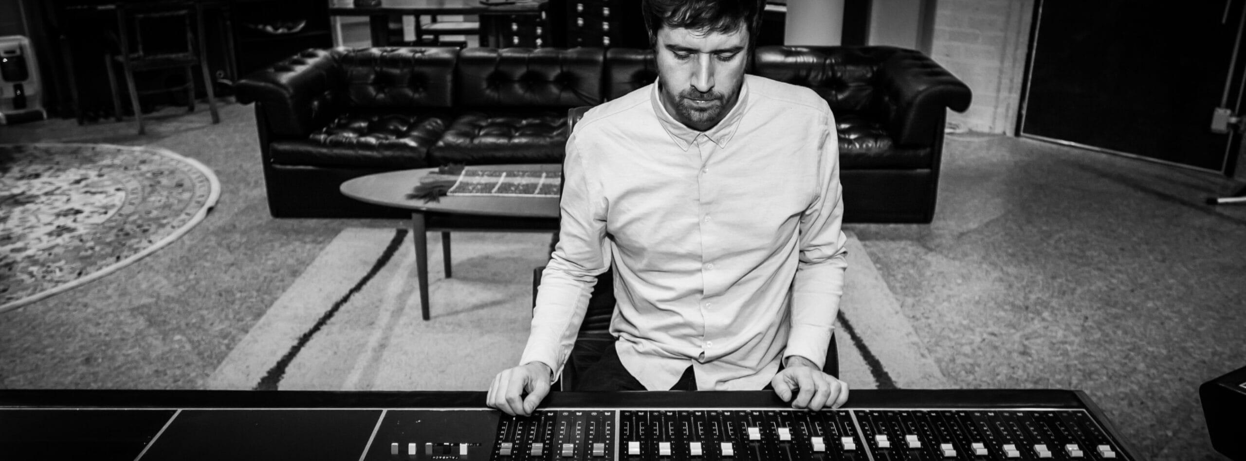 Roel Verberk behind mixing console