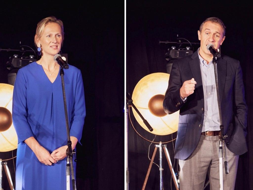 David Sharpe (COO Universal Music und Isabel Garvey (MD Abbey Road Studios) auf der Bühne im Studio One