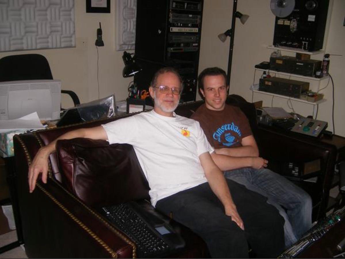 Robin Reumers and mastering engineer Bob Katz
